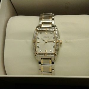 Bulova Two Tone Silver and Gold Watch